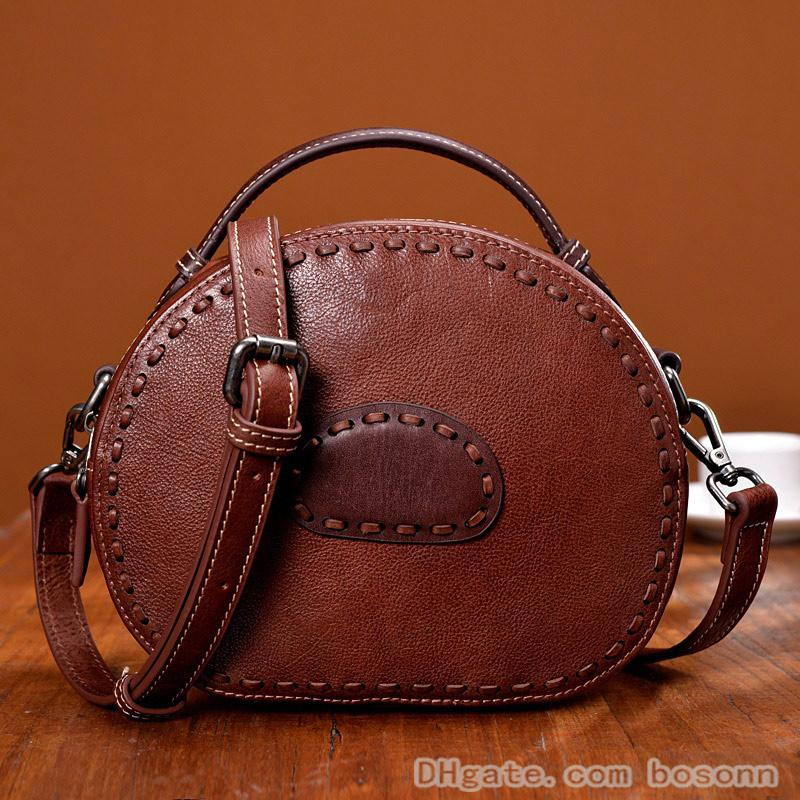 Women S Genuine Leather Crossbody Purse Vintage Sling Shoulder Bags Fashion  Makeup Handbags b4b8eaf046131