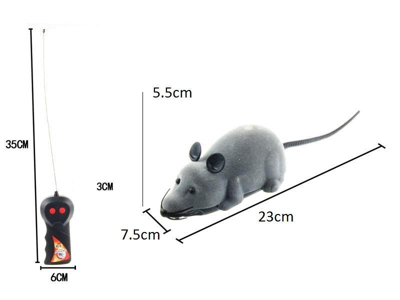 8 Colors RC Electronic mouse pet Cat Toy Remote Control Mouse Wireless Simulation Plush Mouse For kids toys