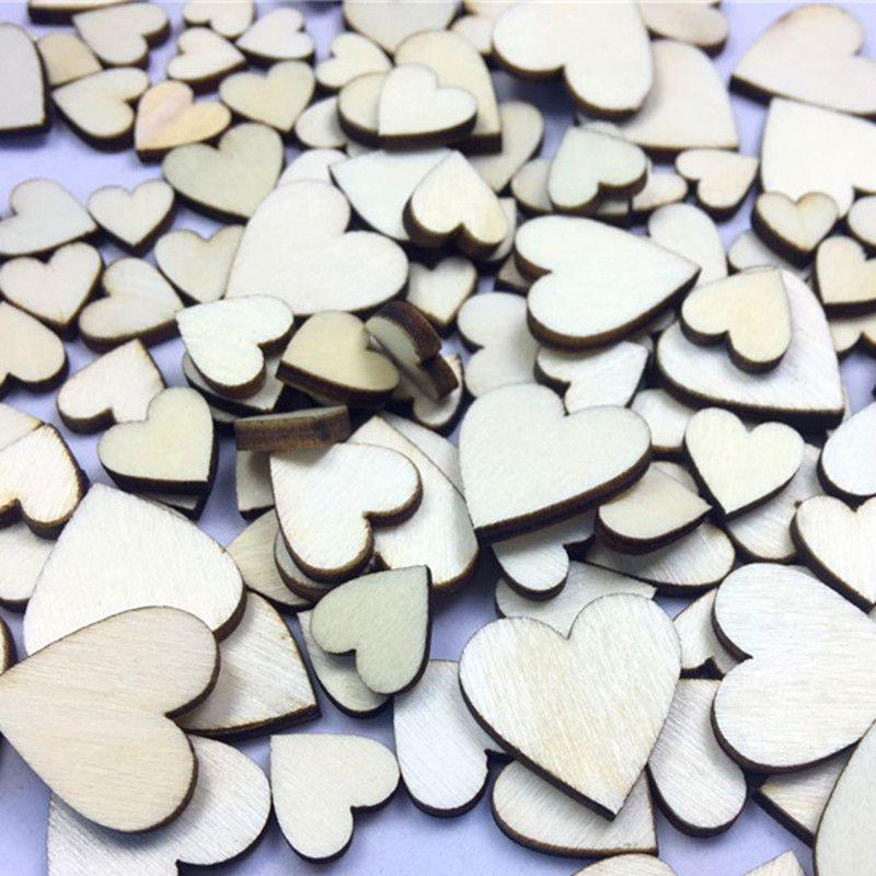 Grosshandel 700 Stucke Hochzeitsdekoration Holz Herzen Liebe Vintage