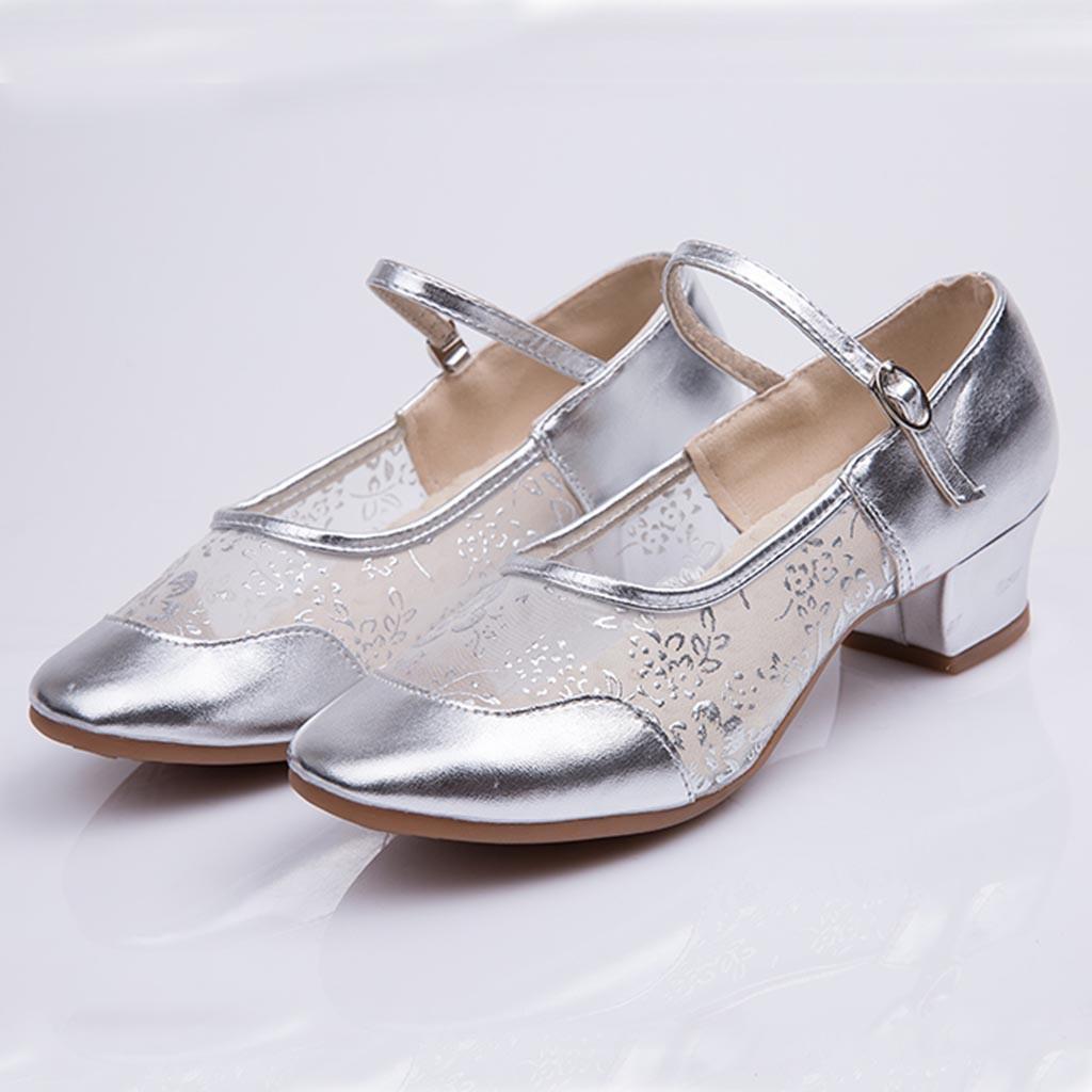 25a8ac1c0f Compre Designer De Sapatos De Vestido Muqgew Nova Marca Mulheres Senhoras  Dança Rumba Valsa Salto De Baile Latino Salsa Dança Singles Transporte  Rápido ...