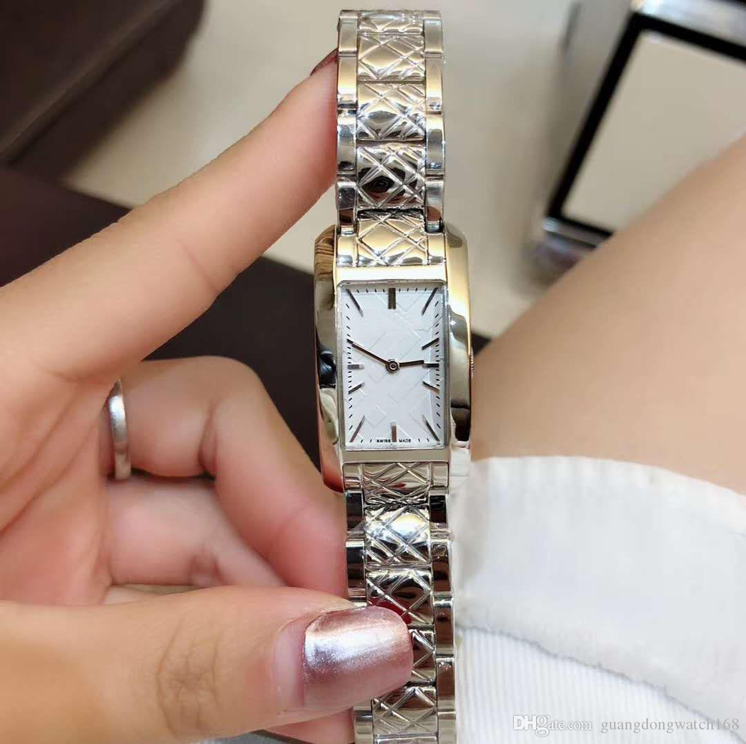 Elegant Ladies Personality Square Watch Imported Quartz Watch White Dial 26*30MM Sapphire Glass 316 Stainless Steel Watchband Ladies Watch