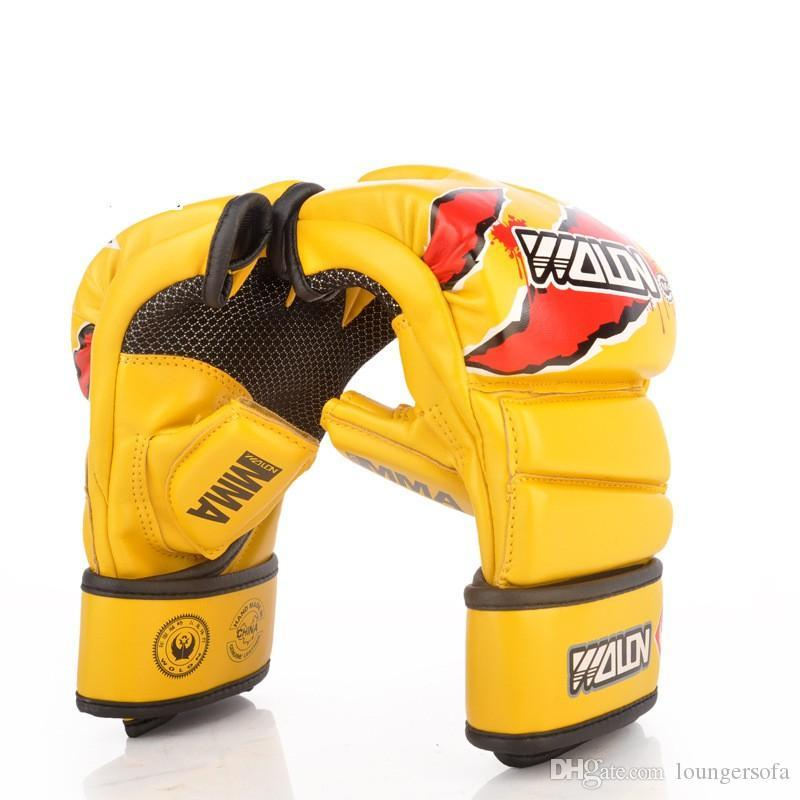 Best Selling Half Finger Beat Glove Combat Fighting Sandbag Thickening Thai Boxing Gloves Punch Fitness Equipment Hot Sale 50dc Ww