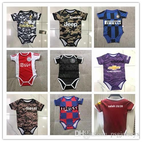 sale retailer 502ee c8905 19 20 Real Madrid RONALDO Baby Soccer Jerseys messi Inter ICAROI salah  United POGBA ajax mexico Kids Football 2019 2020 Shirt Uniforms