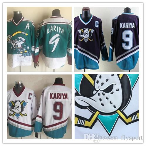 62e69e1ab 2019 18 19 Vintage Anaheim CCM Mighty Ducks Wild Wing Jersey 9 Paul Kariya  8 Teemu Selanne Retro Best Stitched Hockey Jersey From Flysport