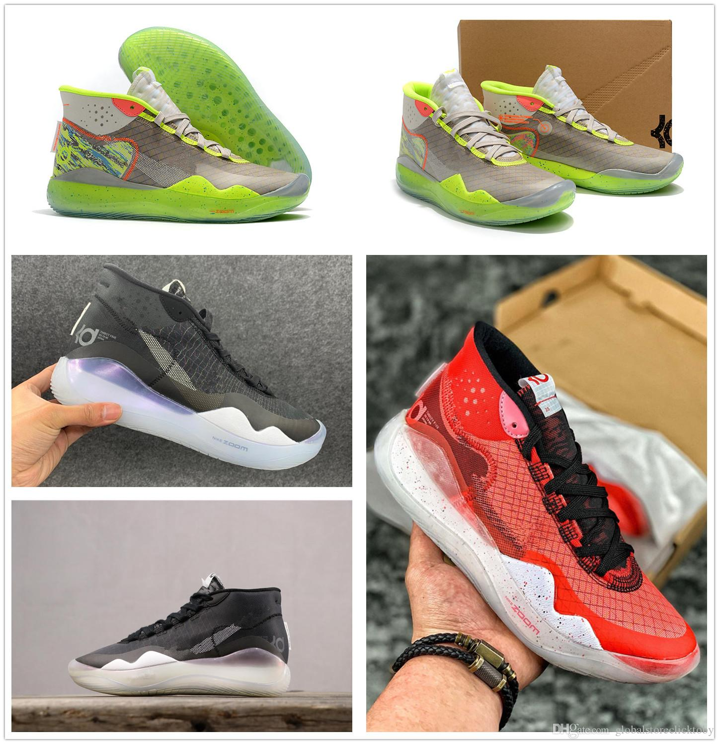 e6358056dc7 2019 2019 Green Red Black KD 12 University Red AR4229 600 KD12 90s Kid  AR4230 900 Zoom KD12 EP AR4230 001 Size Us7 Us12 With Box From  Globalstoreclicktoby