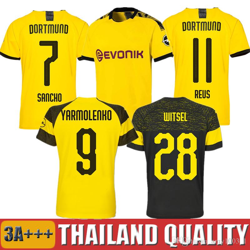 timeless design 1f1a6 f39b4 Thailand BVB Borussia Dortmund Trikot 2019 2020 PHILIPP GOTZE REUS PULISIC  WITSEL Trikot 18 19 20 PACO ALCACER Fußball-Trikot-Shirt