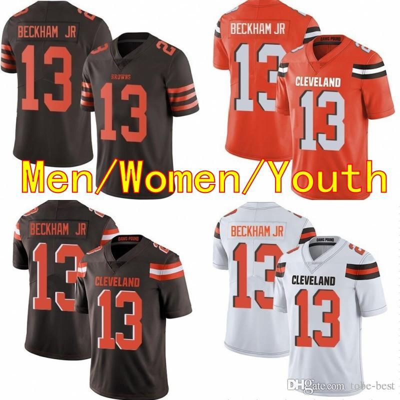 8ab1e5d43 2019 Men Women Youth 13 Odell Beckham Jr 2019 New Cleveland Jersey 6 Baker  Mayfield Browns Football Jerseys White Orange Kids Stitched Cheap Sale From  Tobe ...