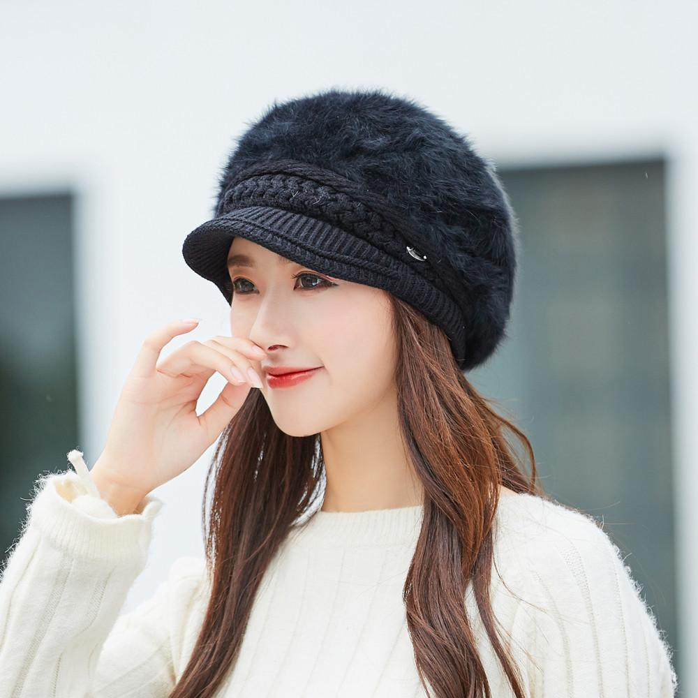 09ce4836b3b10 Women Winter Warm Cap Knitted Hat Beret Baggy Beanie Hat Slouch Ski Cap  Plus Velvet Warm Beret Mujer Boina Caliente  503 Berets Cheap Berets Women  Winter ...