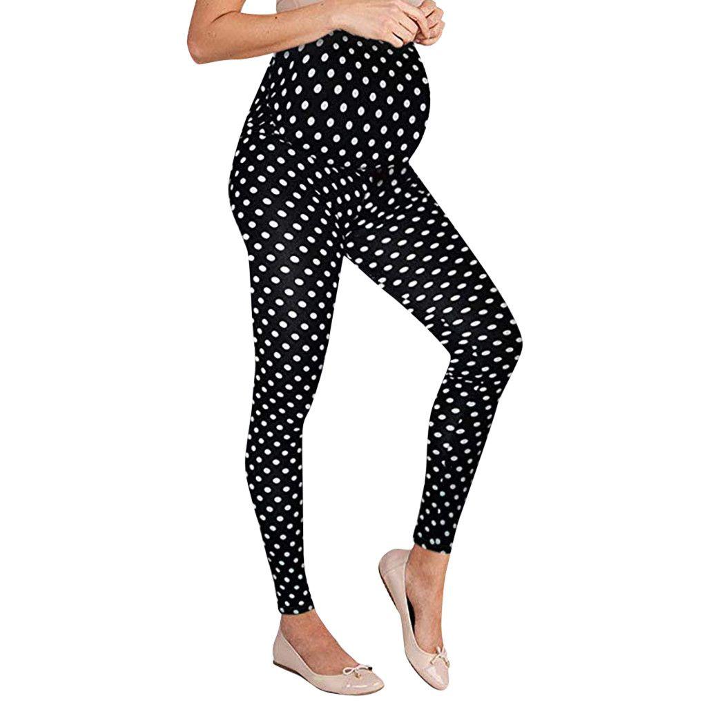 f61cdec7aaa2c6 MUQGEW Women's Maternity Leggings Seamless Dot Pants Stretch Pregnancy  Trousers Maternity Women Pants#M25