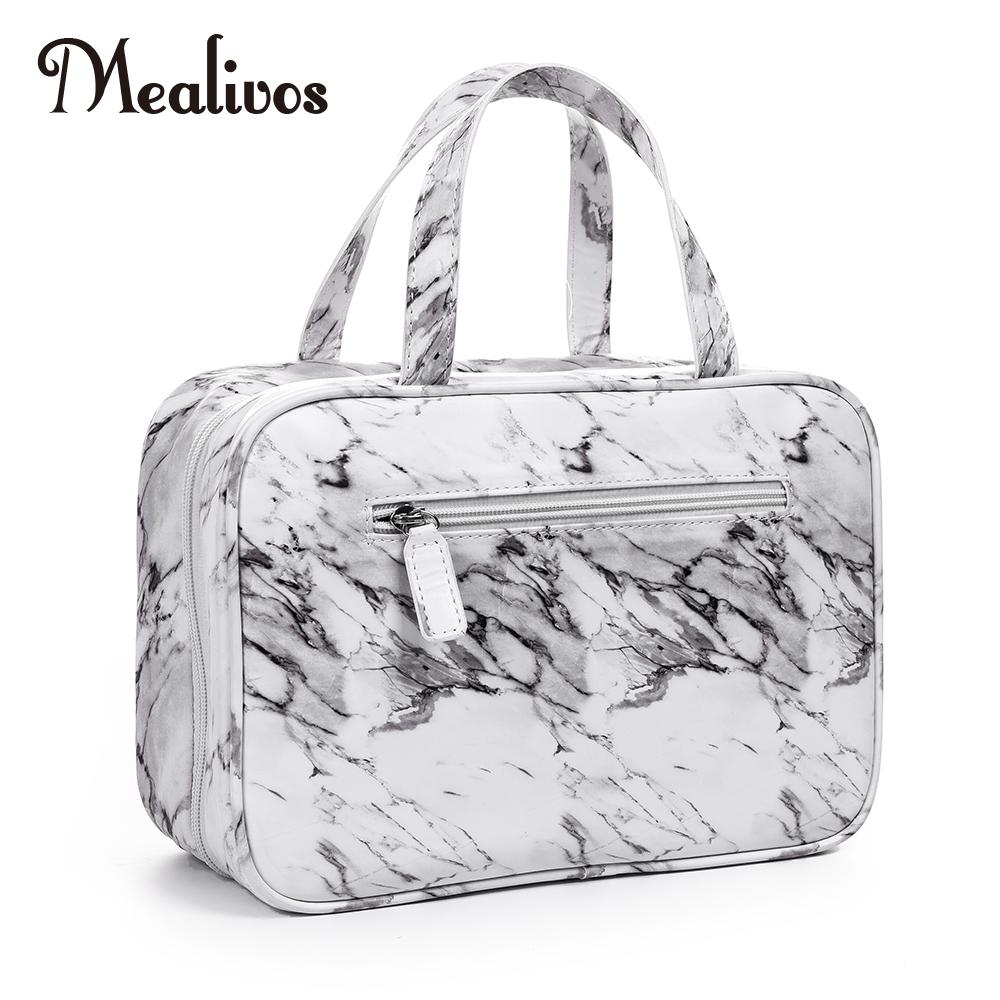 9a1b2b791383 Mymealivos Marble Large Versatile Travel Cosmetic Bag - Perfect Hanging  Travel Toiletry Organizer Y19052501