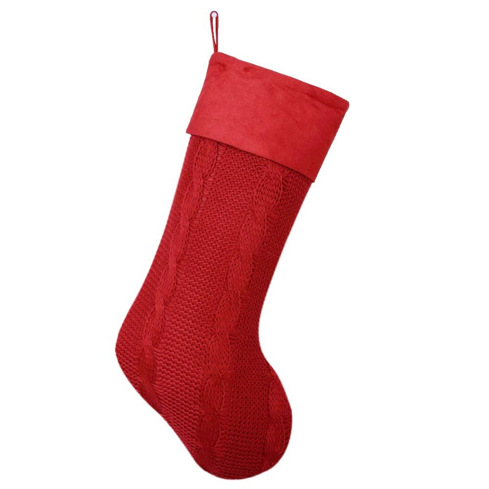 Cable Knit Christmas Stockings.Free Shipping Cable Knit Christmas Gifts Socks Christmas Decoration Knitting Four Colors Christmas Stockings