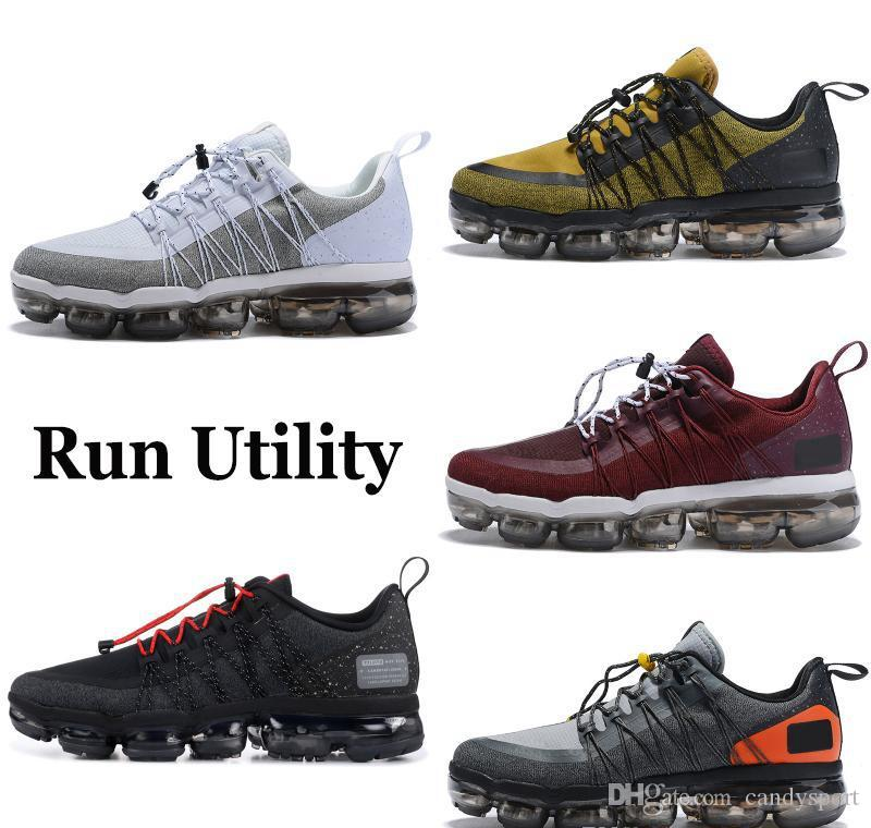 promo code 4ead9 7ef25 Acheter Nike Air Vapormax Max Off White Flyknit Utility Course Anthracite  Moyenne Olive Noir Reflète Argent Designer Baskets Sport Chaussures De Sport  ...