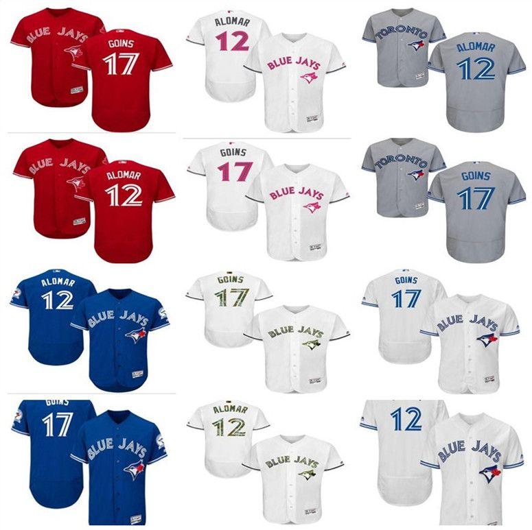 27b20558505 Custom Men s Women Youth Majestic Toronto Blue Jays Jersey  12 ...