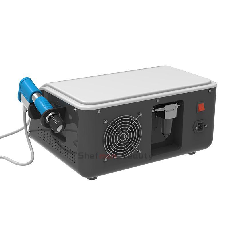 máquina de ondas de choque portátil choque neumático equipo de terapia de onda para ED tratamientos de alivio del dolor del uso del salón de masaje