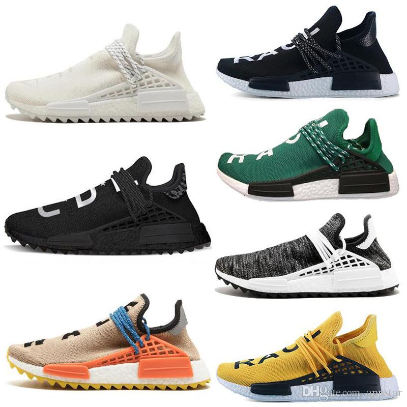 7529b6384d883 2019 New Human Race Trail Running Shoes Pharrell Williams Hu Runner Nerd  Black Yellow Black White Women Mens Trainers Sports Sneakers Size 36 47  From ...
