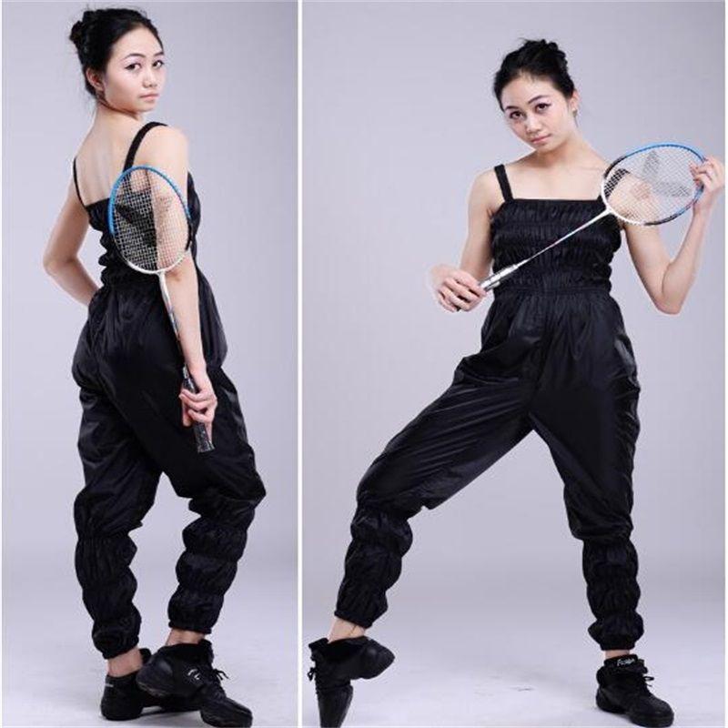 Women Running Sauna Suit Weight Loss Fat Burning Slimming Pants Sportswear Body Sculpting Sweat Pants 629975
