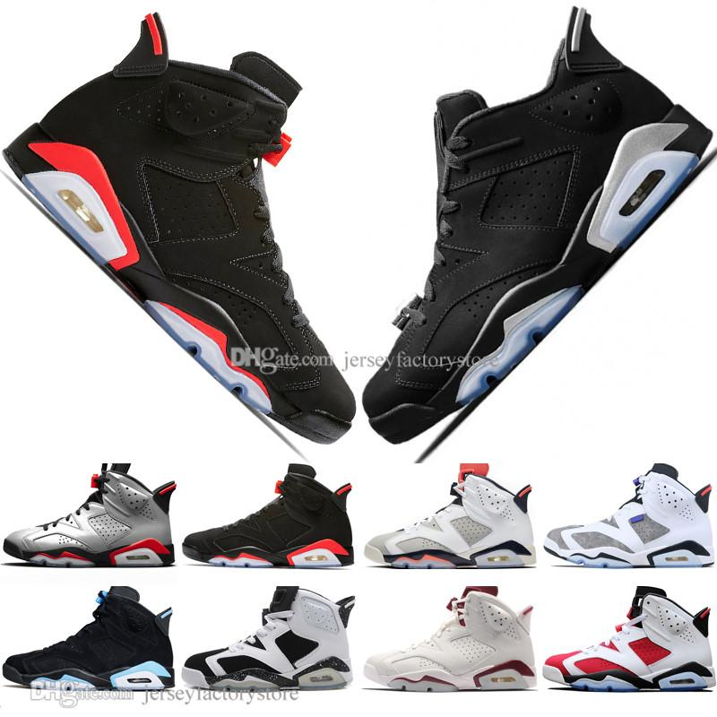 143ceb81b4a Hot 2019 Bred VI 6 6s Mens Basketball Shoes Infrared 23 3M Reflective Tinker  Slam Dunk UNC CNY Wheat Men Sports Sneakers Designer Trainers Jordans  Sneakers ...