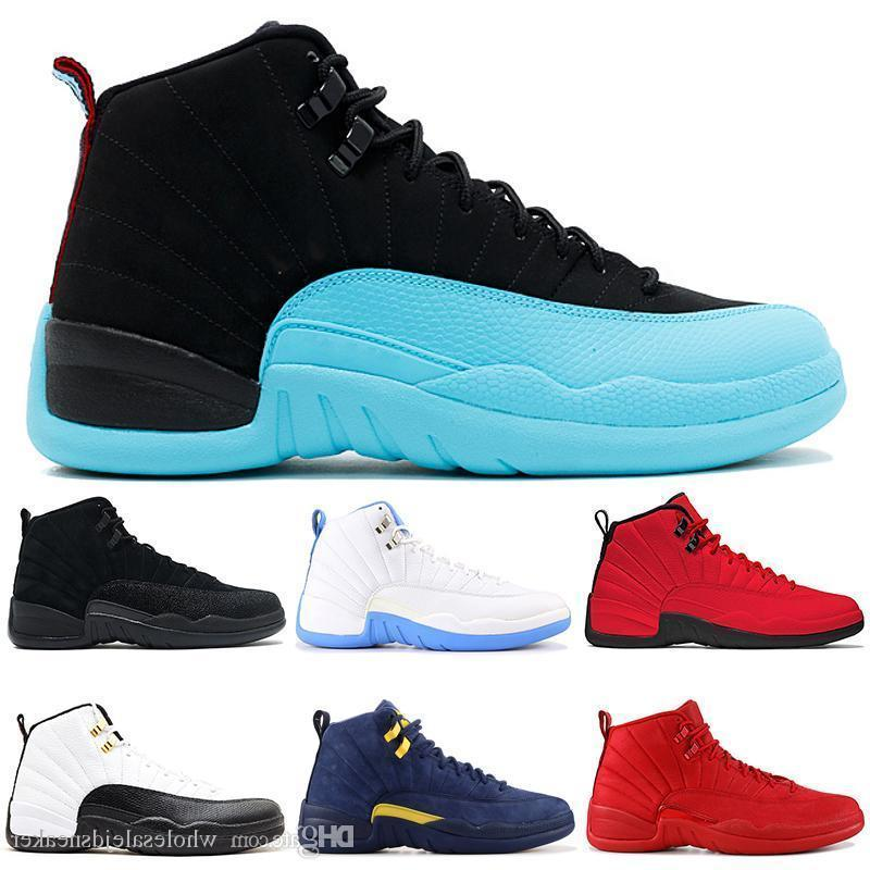 Basketball Shoes 12 12s Mens Gamma Blue Unc Cny Wntr Bulls Gym Red Wings University Blue Vachetta Tan Sports Shoes 7-13