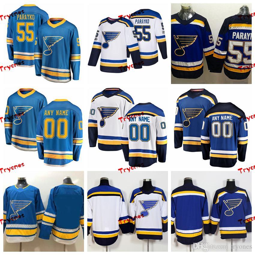 finest selection 7cd0d ea6b7 2019 St. Louis Blues Colton Parayko Stitched Jerseys Customize Alternate  Light Blue Shirts #55 Colton Parayko Hockey Jerseys S-XXXL