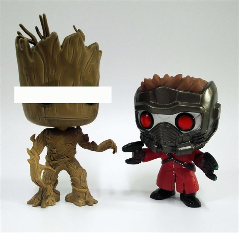 FUNKO POP Model Toys Guardians Of The Galaxy Action Figure Groot Star Lord Movie Figures Dolls Ornament 19 8bxa O1