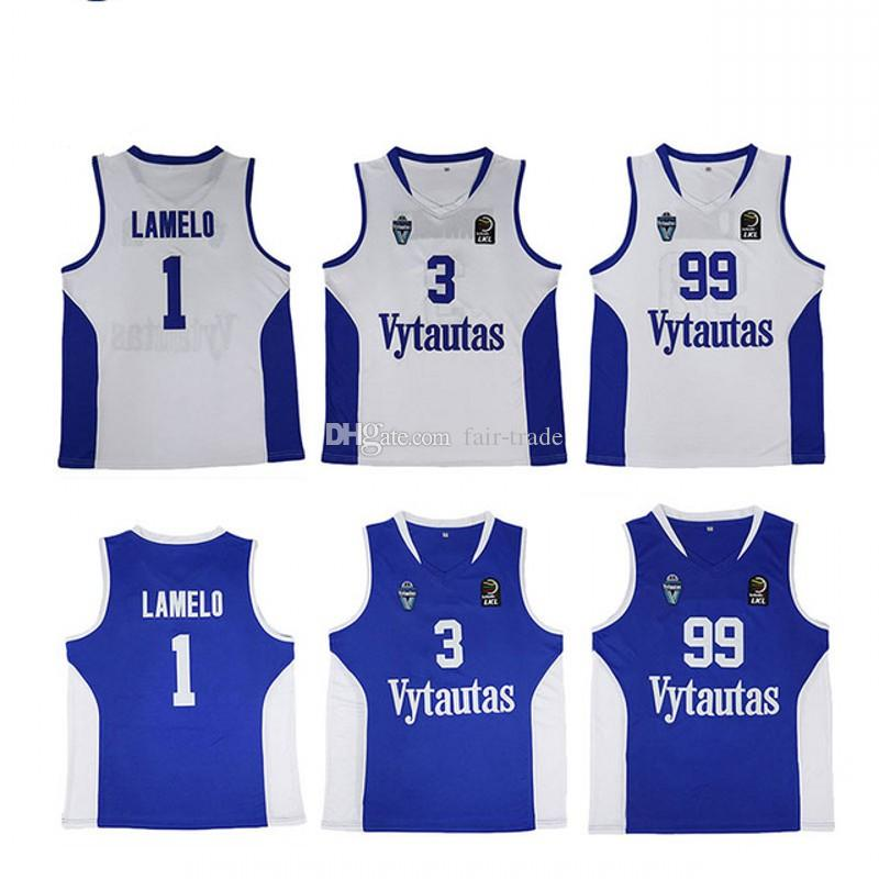ec102601608a 2019 Vytautas 1 LaMelo Ball Jersey Men Basketball 3 LiAngelo Ball 99 LaVar  Ball Jerseys Team Blue Color White Sport From Fair Trade