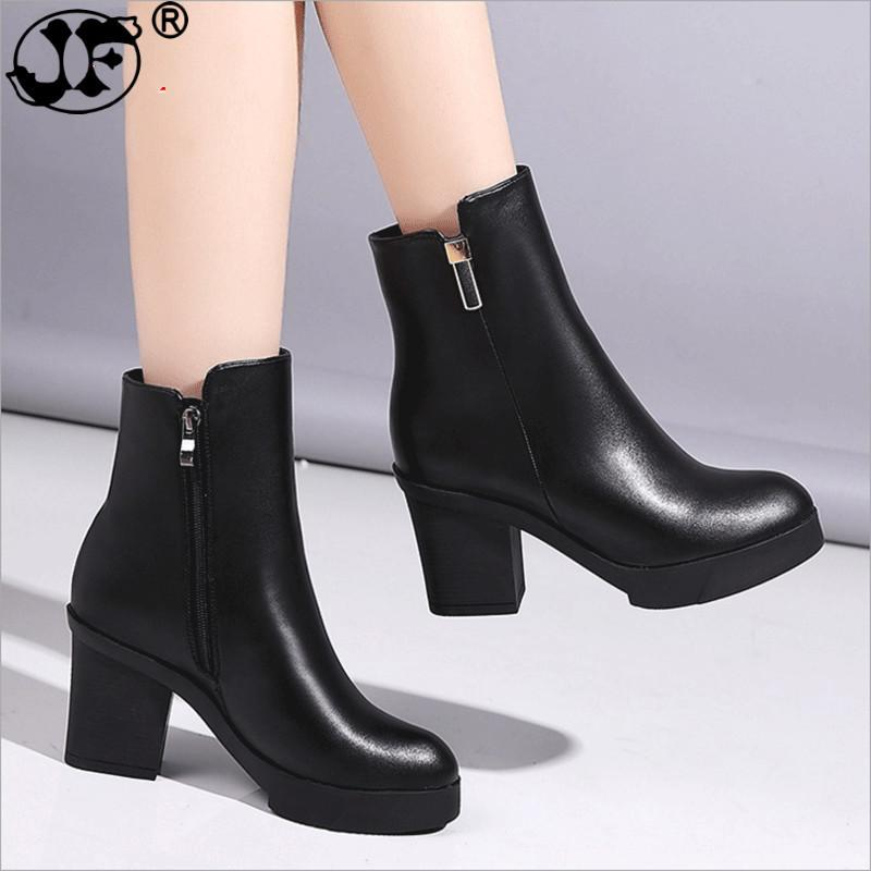 ba07b895cd77 Ankle Boots Women Faux Leather Platform Block Chunky Thick Ultra High Heel  Gladiator Shoes Bootie European Size Hjm89 Cowgirl Boots Wide Calf Boots  From ...