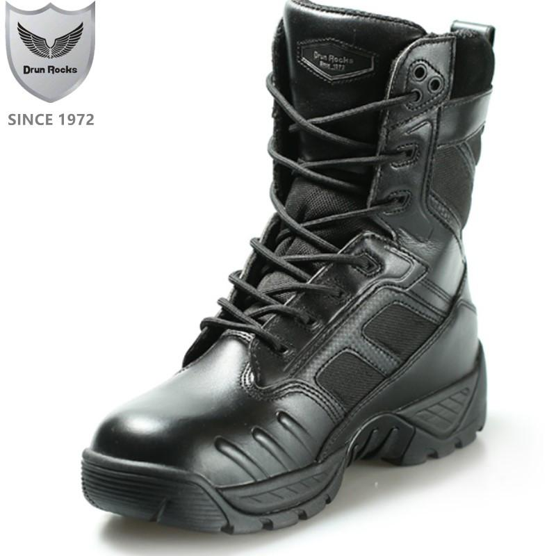 Winter Boots Men Snow Tactical Boots Mens Shoes Leather 8 Inch Genius Leather Warm Boots Male Military Army Boot Puncture Proof Office Shoes High Heels From