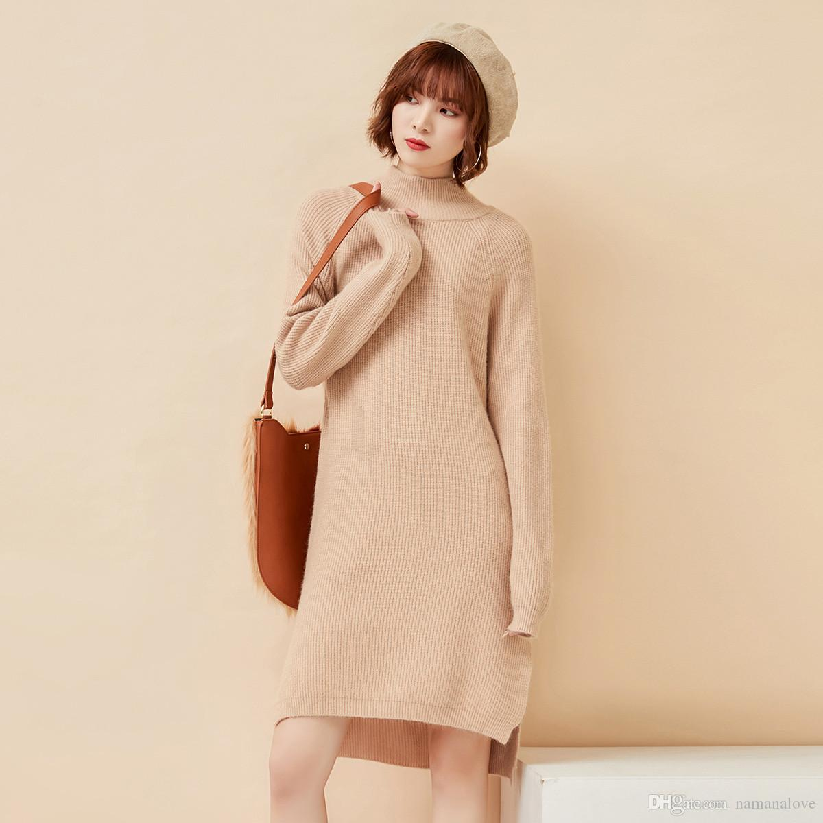 7b76379d2 2018 Autumn and Winter New Sweater Female Korean Edition Harajuku  High-collar Head Thicker, Loose and Lazy Wind Dress Tide Fashion Leisure