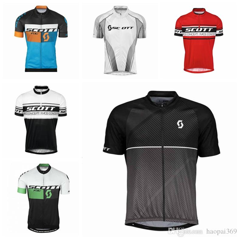 SCOTT team Cycling jersey Short Sleeves mens Tops Summer Bike Road Riding clothes Cycling clothing MTB shirts Ropa Ciclismo Y61781