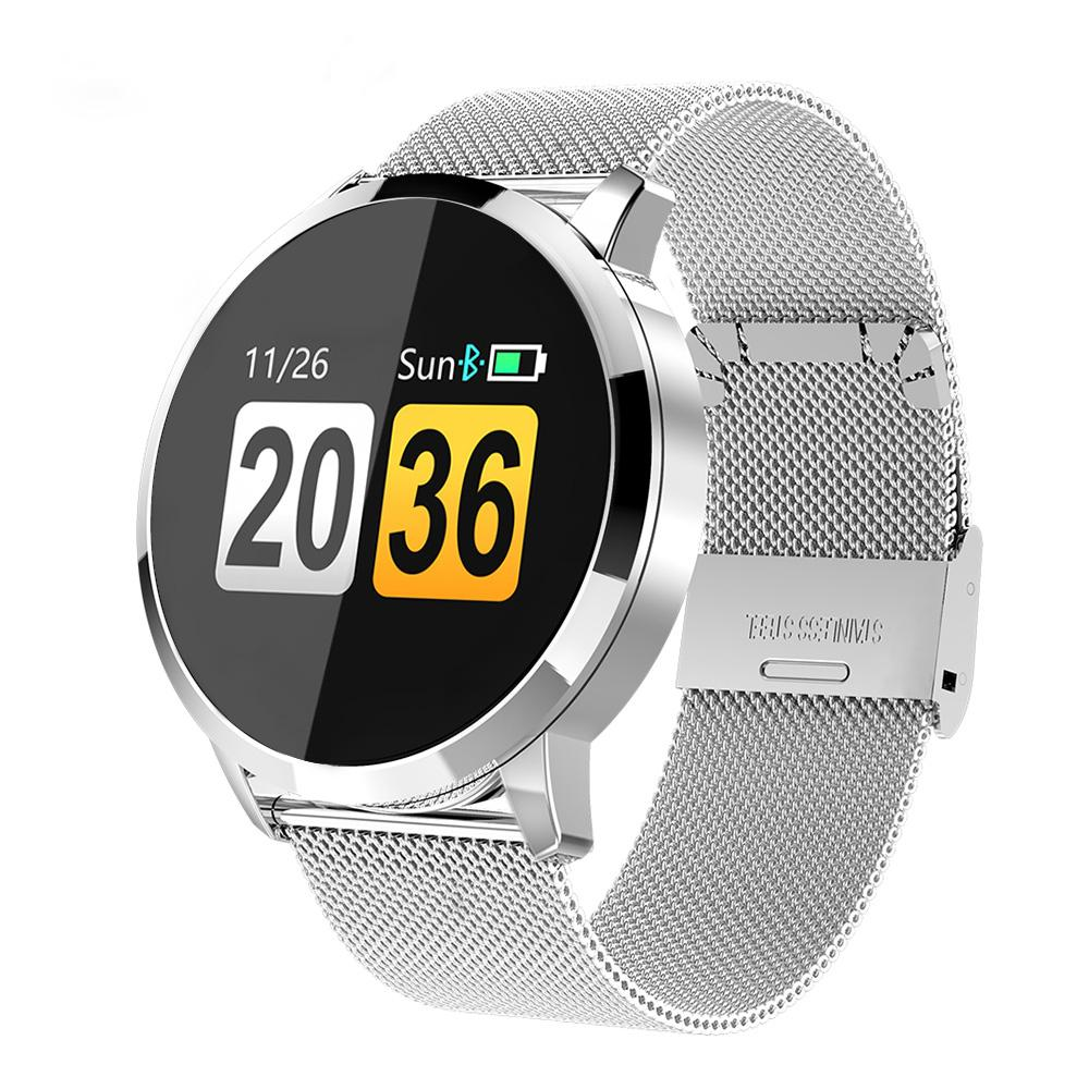 7d16231cc Smart Watch For Women Ladies Q8 Fashion Sports Girl Gifts Heart Rate Monitor  Fitness Tracker Color Screen Smartwatch Bracelet Best Deal On Watches  Watches ...