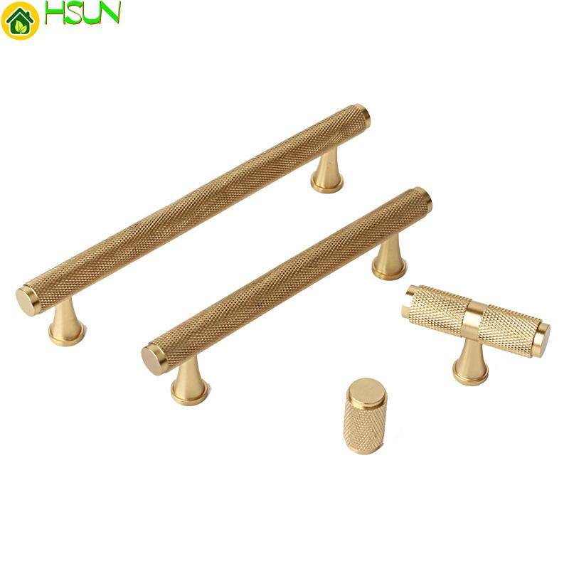 3.75'' 5'' Pure Copper Cabinet Handles Gold Brass T Bar Pulls Drawer Knobs Pull Handles Dresser Pulls Kitchen Handles Hardware
