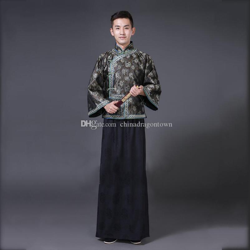 2e50e2e74 2019 Chinese Men Cheongsam Tang Suit Sets Oriental Male Vestido Traditional  Ethnic Clothing Cosplay Fancy Dress Ancient The Qing Dynasty Garment From  ...