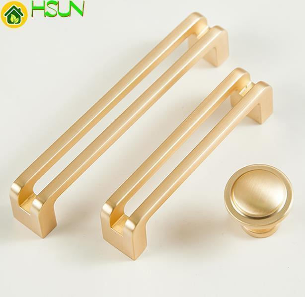 3.75'' 5'' 6.3'' Brushed Gold Dresser Handles Knobs Door Pulls Handles Modern Drawer Pull Knobs Kitchen Cabinet Pull Handle Knob