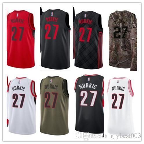 best sneakers fa9fa 1cd47 custom best 2018 Basketball Wear Men's Portland Trail Blazer#27 Jusuf  Nurkic Yellow Jersey - City Edition Basketball Jerseys
