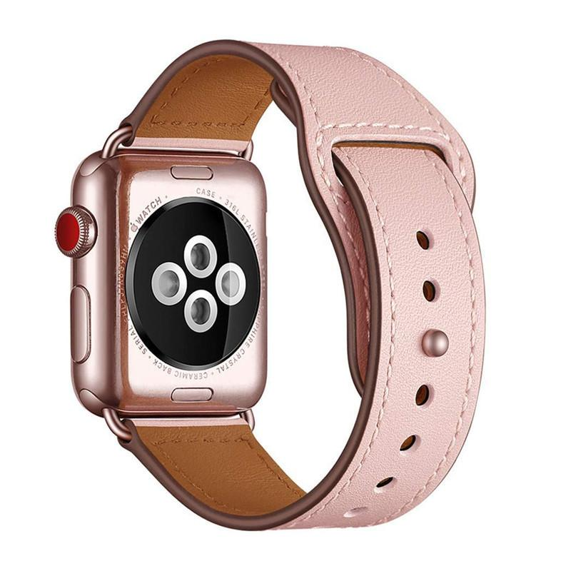 Genuine Leather Replacement Band Strap For Apple Watch Series 4 3 2 1 38mm 40mm , Viotoo Soft Leather Watch Band For Iwatch Y19052301
