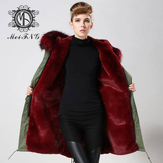 2017 Winter Womens Wine Red Faux Fur Lined Parka Casual Jacket Military  Hooded Coat Ladies Fur Coats With Raccoon Fur Hood C18112001 UK 2019 From  Lizhang03 43bdd4651