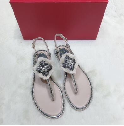 036d286f7 Carole Levy Summer Fashion Tassel Sandal 2019 Crystal Embellished Woman Flat  Shoes Sexy Thong Sandal Beach Wear Rome Style Shoe Bamboo Shoes High Heels  ...