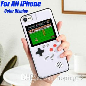 Retro Tetris Game Consoles Phone Case For iPhone X 8 7 6s Plus Cellphone Back Cover Decompression Shell
