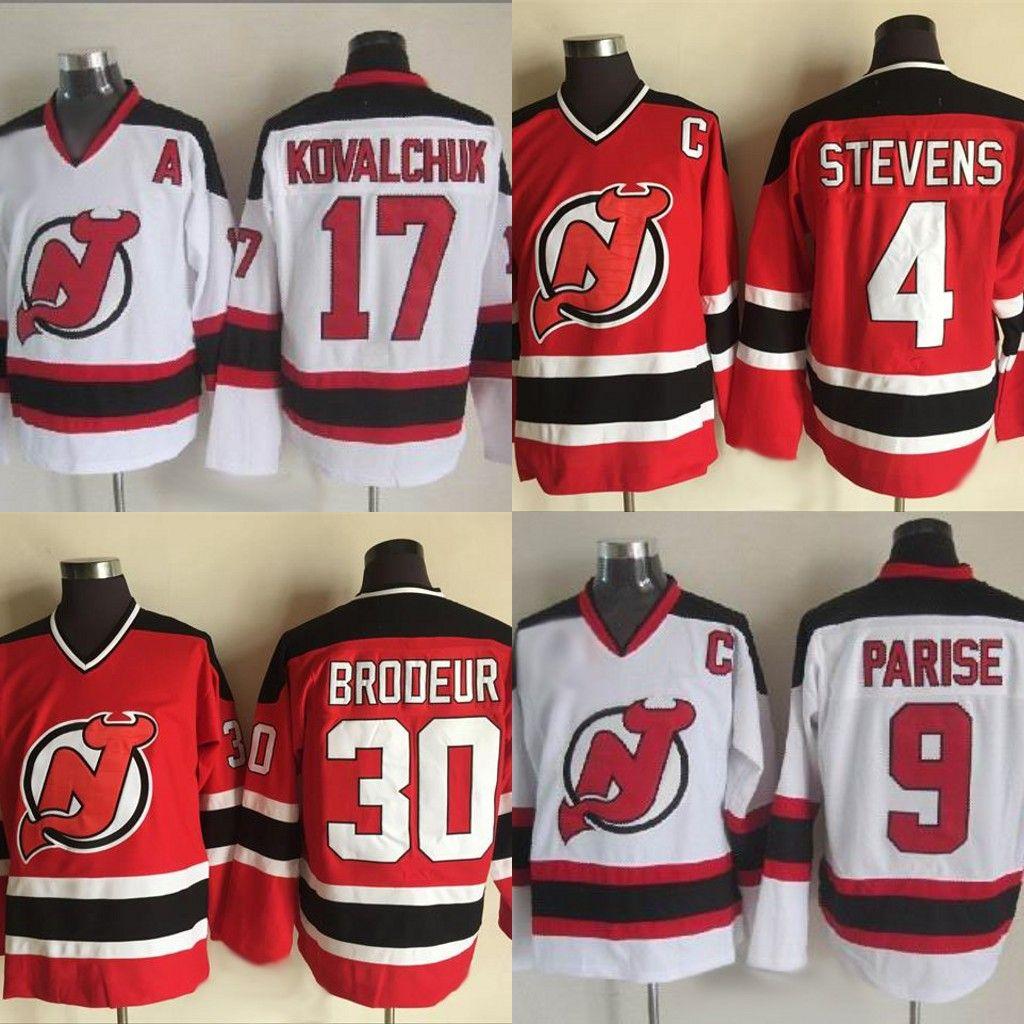separation shoes 76d65 9e032 New Jersey Devils 9 Zach Parise 4 Scott Stevens 30 Martin Brodeur 17 Ilya  Kovalchuk Can be customized Retro Hockey Jersey Fast Shipping