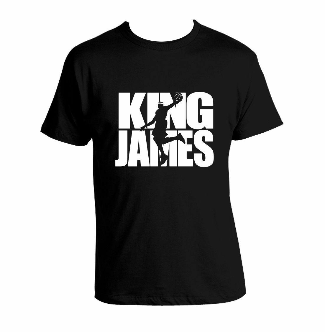 outlet store 37f61 71bb3 Lebron James King James T Shirt MVP ClevelandFunny free shipping Unisex  Casual Tshirt