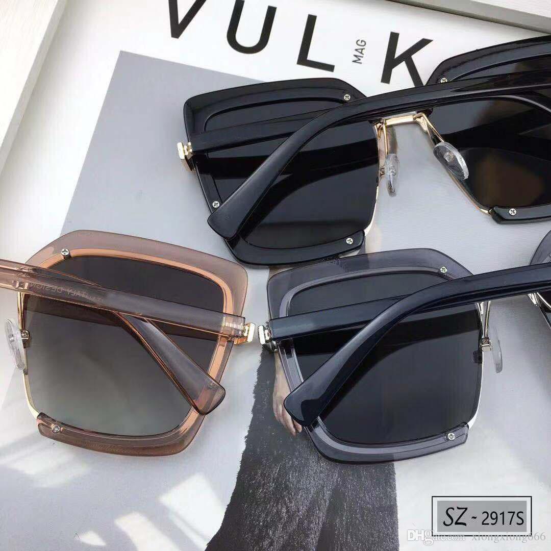 39bbdd19c Compre Gucci 2917 Óculos De Sol De Luxo Mulheres Marca Designer De Moda  Popular Quadrado Moldura De Cristal De Cristal Metarial Moda Mulheres  Estilo Vem Com ...