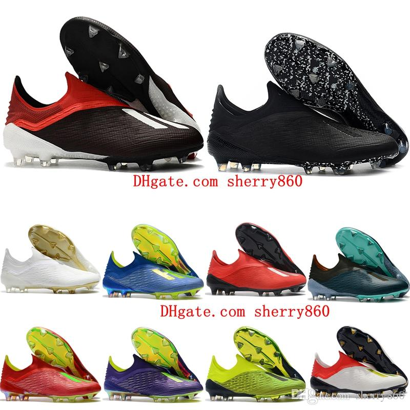 aa927576d92 2019 2018 Mens Soccer Cleats X 18 Fg Soccer Shoes Original Football Boots  Outdoor Scarpe Da Calcio High Quality Nemeziz Blackout From Sherry860