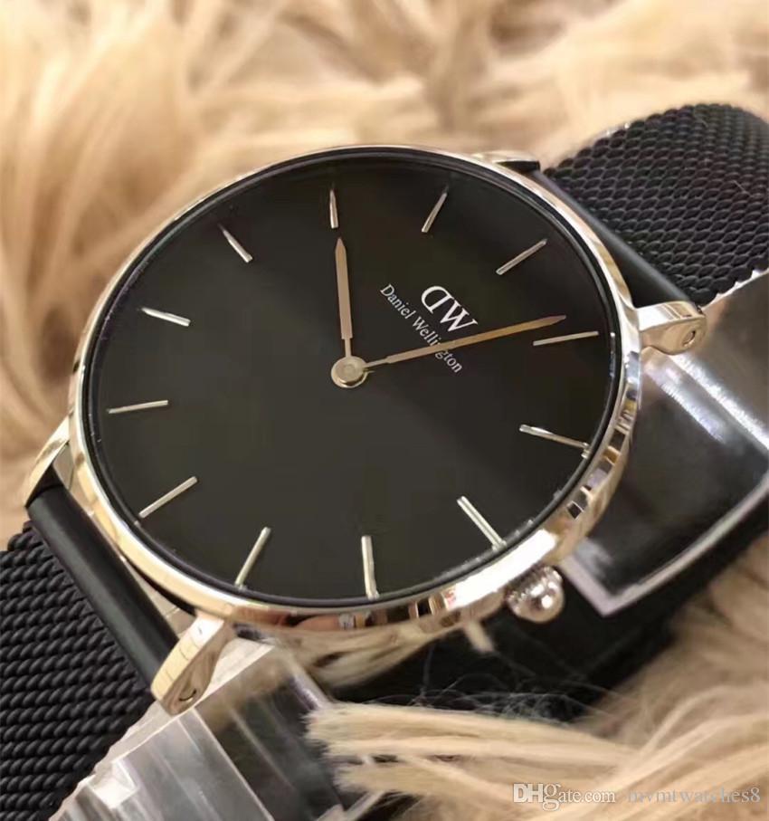 0524b5304891 Daniel Wellington Dw Watch Slim Fashion Black Mens 40mm Watch Quartz Sports  Women S Watches 32mm Relogio Feminino Waterproof Rose Gold Digital Watches  Gold ...
