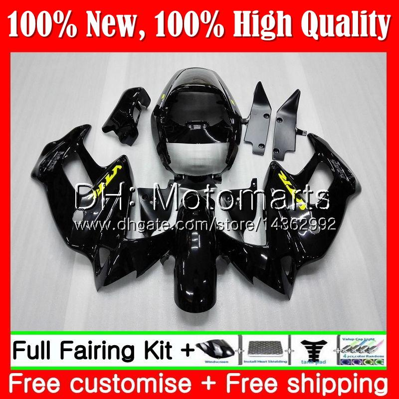 Corpo para HONDA SuperHawk Preto brilhante VTR1000F 97 98 99 00 01 64MT4 VTR1000 F VTR 1000 F 1000F 1997 1998 1999 2000 2001 Carenagem