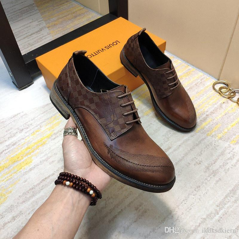 2019f new trend brand men's fashion casual shoes, comfortable and breathable low-top lace-up sneakers, a full set of original shoe box 38-45
