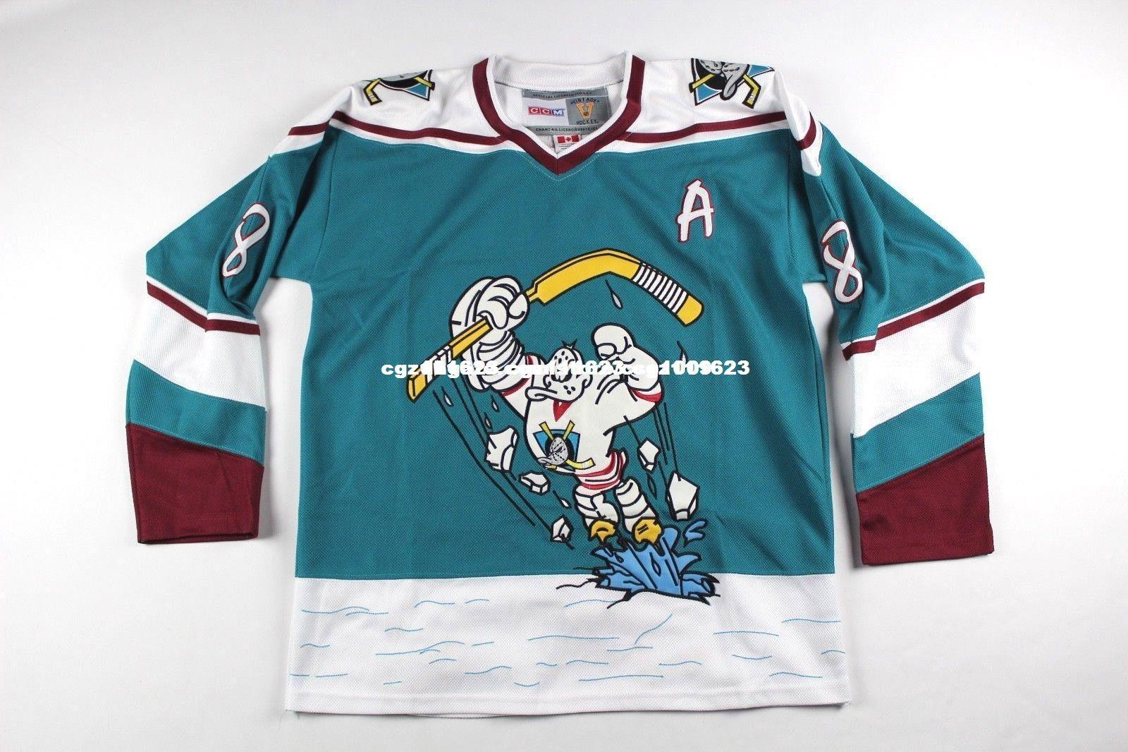 low priced 68377 1a980 50% off anaheim mighty ducks hockey jersey ff443 ad30f