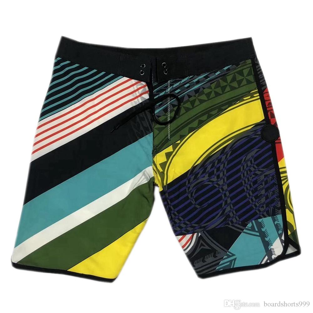 17f1e80f74f45 2019 High Quality 4 Way Stretch Swimming Trunks Mens Quick Dry Surf ...