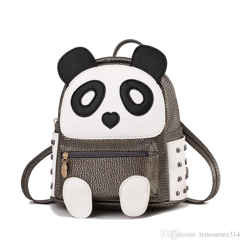a9143819 Compre Mujeres Panda Mochila De Cuero Cute Mini Bolsas De Dibujos Animados  Satchel Casual Escuela Bolsas De Viaje Mochilas Mejores Regalos Mochila A  $21.32 ...