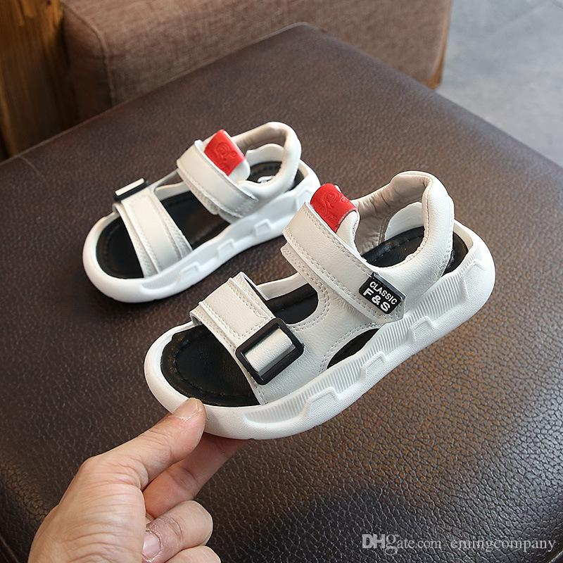 17199cd2bbd3 New Children Sandals Summer Casual Kids Beach Shoes Boys Girls Sandals Non  Slip Soft Bottom Baby Elastic Sandal Girls Flipflops Cheap Childrens  Trainers ...