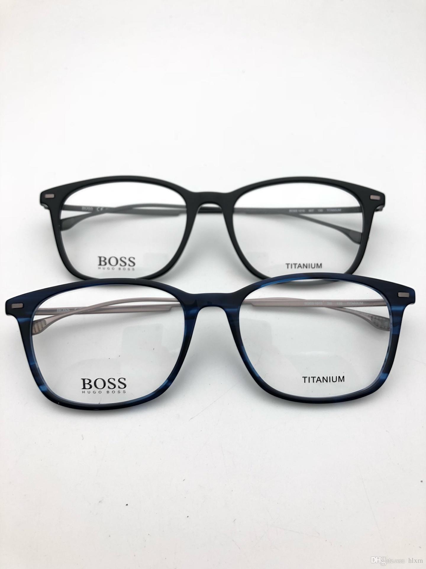 307e8cbc6d 2019 Brand Design 2018 Genuine New Titanium Frame BOSS Fashion Glasses  Frame Glasses 1015 Fashion From Willielin